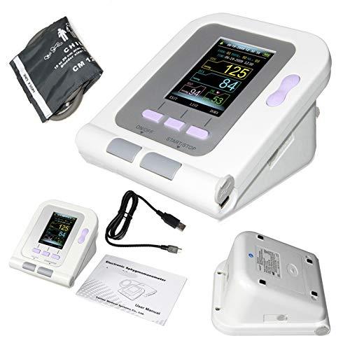 WANG Presión Arterial Digital pediátrica, Monitor LED Superior del Brazo electrónico Sphygmomanoter Ritmo cardíaco PR BP Medidor Manguito Niño