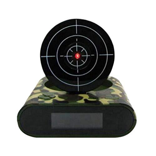 LOVIVER LED Digital Wecker Zielwecker Gun Alarm Clock Wecker mit Zielscheibe und Infrarot Pistole - Grün