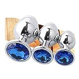 EDYellow 3 Piezas/S M L, tapón de Metal para Ejercicio y Masaje Corporal, Acero Inoxidable Liso, Material Duradero y...