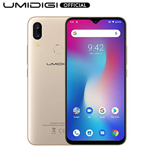 UMIDIGI Power Unlocked Cell Phones 64GB+4GB RAM 5150mAh Battery 18W Fast Charging 6.3' FHD+ Screen Global Version 16MP+5MP Dual Camera 4G Volte Smartphone - 1 Year US Warranty(Gold)