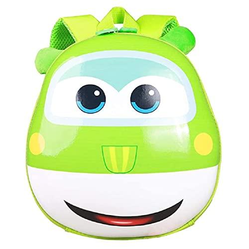TFP Mochila Impermeable para niños 3D Cars Diseño Mochila Preescolar Resistente al Ggua Ligera Casual Moda Escuela Mochila para Niñas & Niños de 1-3 Años Green