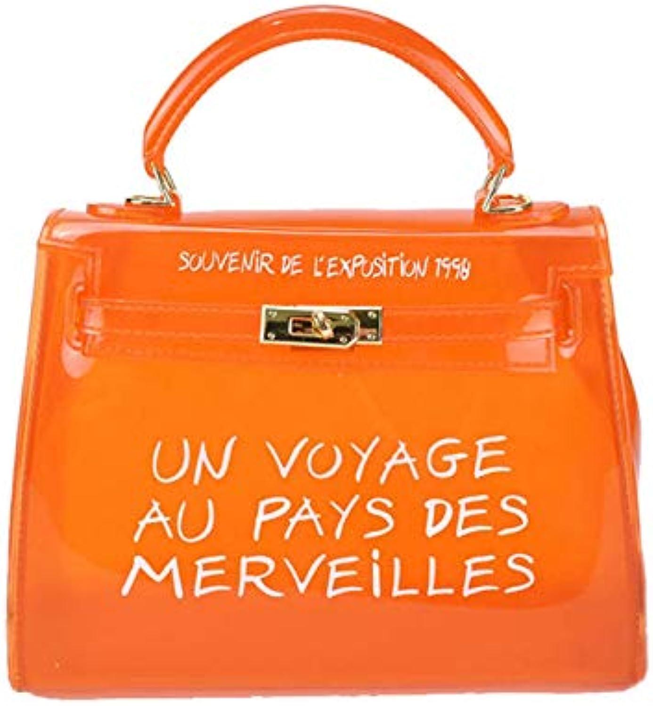 Womens Clear Purse Handbags Clear Transparent Handbags PVC Candy color Jelly Bags Crossbody Messenger Bag Small