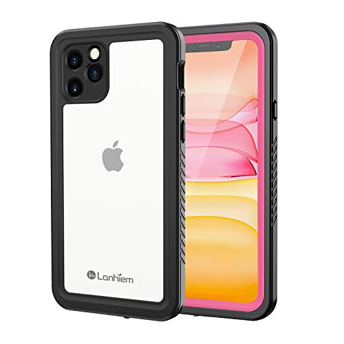 Lanhiem Funda Impermeable iPhone 11 Pro, Carcasa Sumergible Resistente Al Agua IP68 Certificado [Protección de 360 Grados], Carcasa para iPhone 11 Pro con Protector de Pantalla Incorporado