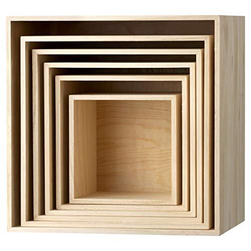 Bloomingville Holzbox im 6er Set Natur