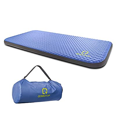 OT QOMOTOP Self-Inflating Camping Foam Mattress, 80×28×4 Inches Single Size Auto-Inflation Camping Sleeping Air Pad, Portable Sleeping pad, Perfect for Camping