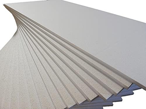 Pannelli Isolanti sottili in Polistirolo Bianco a densità maggiorata Spessore 1 cm. pannelli 100 x 50 (20)