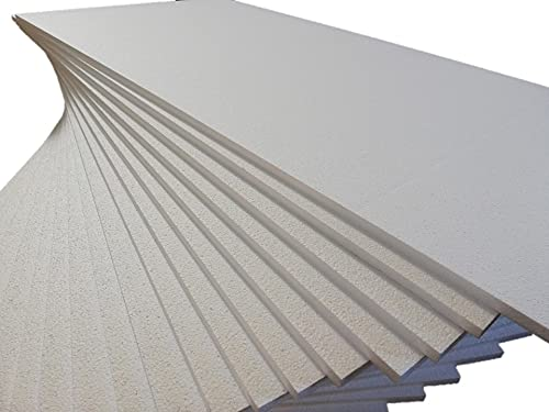 FUTURAZeta - Polistirolo Pannelli in EPS 100 Bianco Densità Maggiorata 20 Kg/Mc – Polistirene Espanso Sinterizzato Spess. 2 cm. per isolamento termico - Sistema Cappotto. (10 Pan. - 5 Mq.)