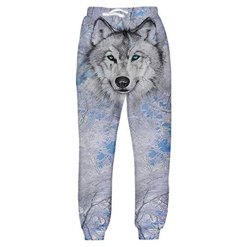 Pantalon de survêtement Complet pour Hommes Imprimé Snow Wolf 3D Pantalon de survêtement Homme Hip Hop Streetwear Pants Unisexe Pantalons Multi XL