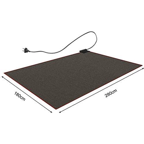 CRAVOG Heizteppich 180x280 cm Teppichheizung Beheizbare Teppichunterlage Fußbodenheizung Schwarz
