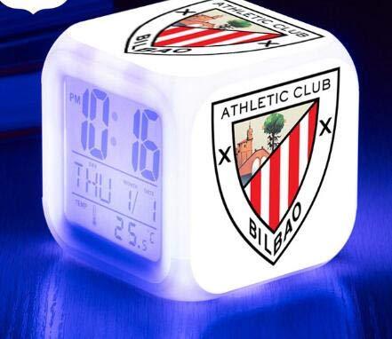 BMSYTY Wecker/Rugby Leucht Sport LED Wecker 7-Farben-Blinklicht Digitaluhr