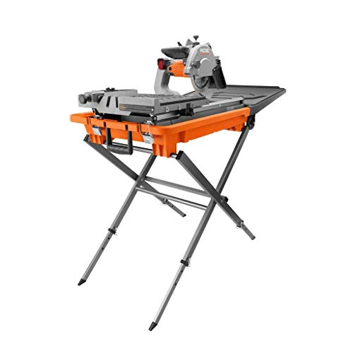 """Ridgid 8"""" tile and paver saw with stand and laser"""