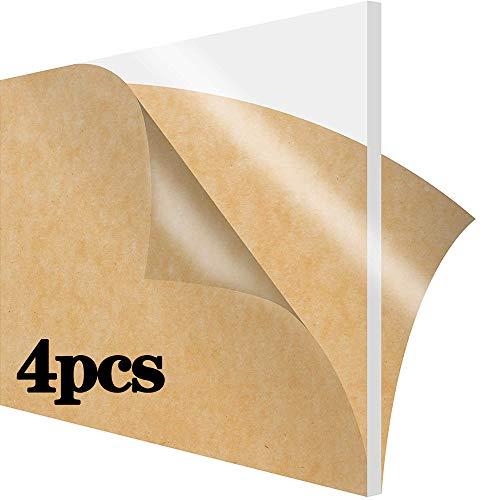 GYZD Bauglas (Polyethylen hoher Dichte) Blatt, Plexiglas Blatt, Bettwäsche Plexiglas, sehr vielseitig, geringes Gewicht und hohe Schlagzähigkeit, Acrylglas 200 x 300 x 1 mm,200mm x 300mm x 1mm