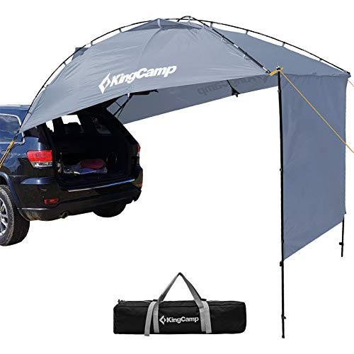 KingCamp Awning Shelter SUV Tent Auto Canopy Portable Camper Trailer Tent Roof Top Car Shelter for Beach, SUV, MPV, Hatchback, Minivan, Sedan, Family Camping, Outdoor