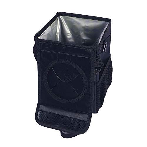 Xcwsmdq Mülleimer Auto-Abfall-Beutel Mülleimer Organizer Portable Papierkorb mit Deckel und Ablagefächer Leak-Proof Innenfutter Auto Aufbewahrungstasche Reinigungsmittel