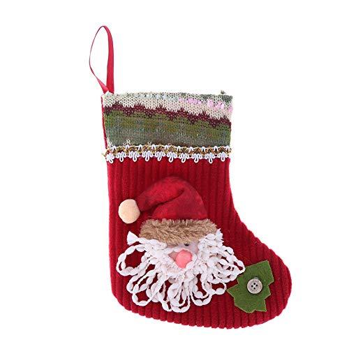 vanpower - Bolsa de Regalo para árbol de Navidad, diseño de Calcetines Decorativos, Santa Claus, 19 x 11cm/7.48 x 4.33in