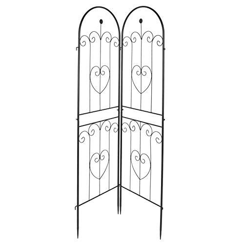Wakects - Set di 2 traliccio da giardino, in ferro battuto, adatto per matrimoni, cerimonie e attività all'aria aperta