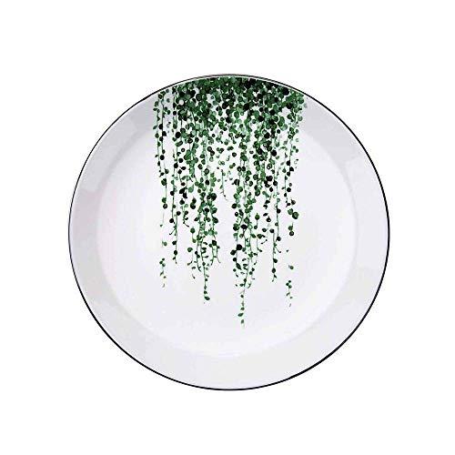 YNHNI Plato de cena Set Platos de cena de cerámica Bandeja de desayuno Plato de sushi Cocina Vajilla Postre Pastel Plato Ensalada Platos de China Vajilla, Repetible