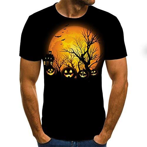 T Shirt Men Clothes Mens Summer Skull Print Men Short Sleeve T-Shirt 3D Print T Shirt Casual Breathable Funny T Shirts 6XL Txu-1224