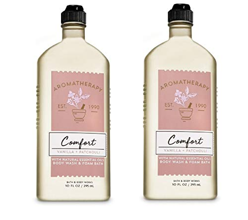 Bath and Body Works Aromatherapy Comfort Shower Gel 2 Pack (Vanilla and Patchouli)