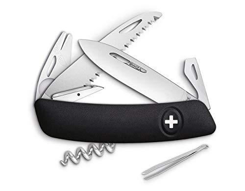 SWIZA 691002 TT05, schwarz Messer, Silber, 17cm