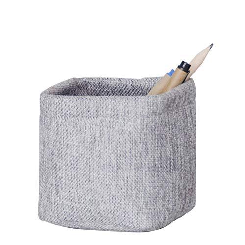 XINKONG Caja de Almacenamiento de Lino de imitación Mini Tela de Trompeta Tienda de Pluma Soporte de bolígrafo Simple Caja de Almacenamiento de Llaves, 10x10 cm (Color : Gray)