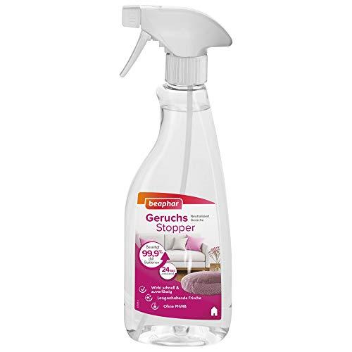 beaphar Geruchsstopper   Geruch-Neutralisierer für Umgebung von Haustieren   Beseitigt 99,9% der Bakterien   Langanhaltende Frische   500 ml