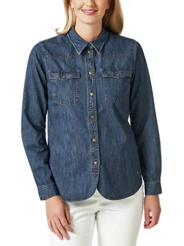 Walbusch Damen Jeansbluse einfarbig Blau 36 - Langarm