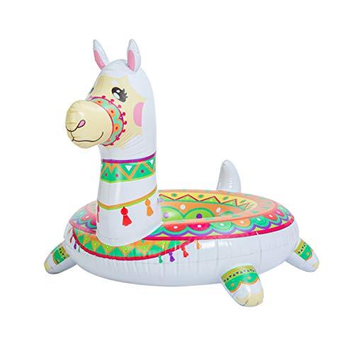JOYIN Piscine lama gonflable 110,5 cm, tubes de piscine, flotteurs amusants, flotteurs de plage, bain dété, jouets de piscine, décorations de fête pour enfants et adultes