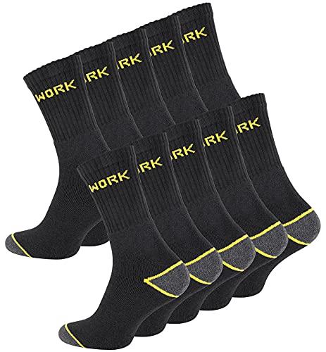 Cotton Prime 10 Paar Herren Arbeitssocken - Robuste Work Socks - Berufssocken, Gr. 43-46