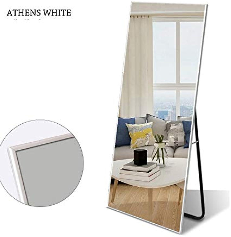 LengthVollstndiger Spiegel, stehend hngend oder an die Wand gelehnt, Groes Rechteck-Schlafzimmer-Spiegel-Bodenspiegel GanzkrperspiegelL0416 (Farbe   Wei)