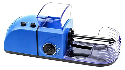 Desk Chairs 1pc Easy Automatic Cigarette Rolling Machine Portable 8mm Electric Automatic Cigarette Rolling Machine DIY Tobacco Roller Maker Machine Automatic Injector (Color : Blue)