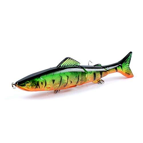 JBFZDS 1 Unids Pesca Señuelo 130 Mm 21g Ojos 3D Multi-Section Duro Bait Artificial Crankbait Hundimiento Wobblers Minnow Pesca Persecuencia Carp Señuelos YFYUER (Color : 8)