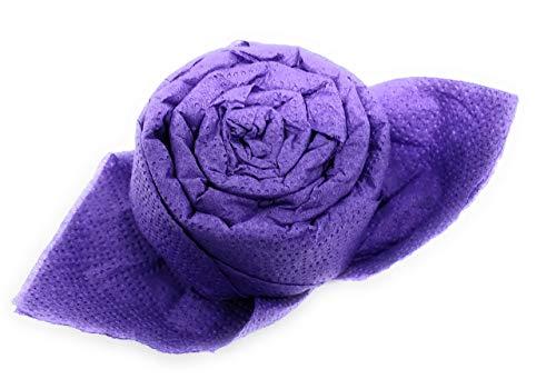 Servietten Rosen, 12 er Set in lila, fertig gefaltet. Zur Kommunion, Geburtstag, Hochzeit als Geschenk oder Mitbringsel