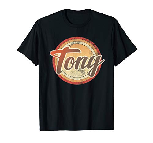 Graphic 365 Name Tony Vintage Funny Personalized Gift T-Shirt