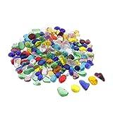 dailymall 100g Edelstein-Set Natur Kristall Trommelsteine, Verschiedene Größen - Farbige Glasur