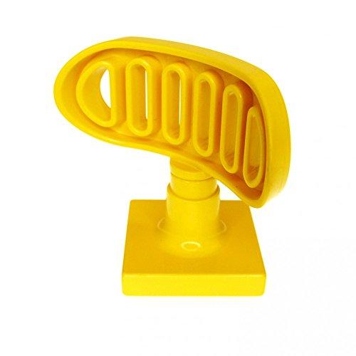 1 x Lego Duplo Antenne Radar gelb 2 x 2 drehbar Flughafen Polizei Schiff Boot Feuerwehr 4376 c01
