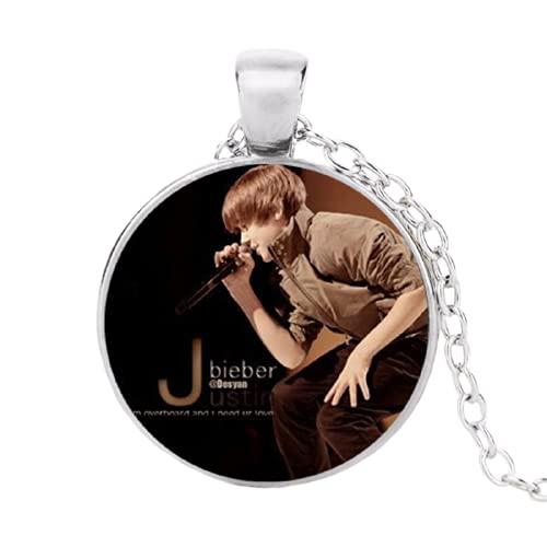 Estrella Brillante Justin Bieber Collares Colgantes Fans Favorito Marca Estrella Colares Femininos Collares
