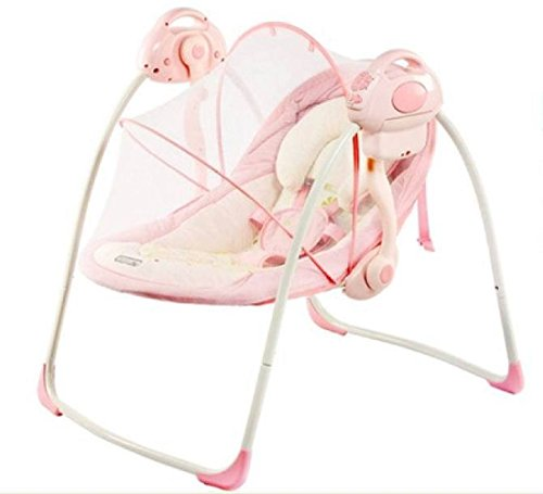 Review JXWANG Baby Electric Rocker Chair And Bouncer - Portable Swing-Suitable For 0-18 Months,Pink