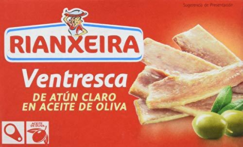 Rianxeira, Conserva de ventresca de atún claro en aceite de oliva - 6 latas de 120 gr. (Total: 720 gr.)