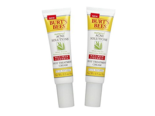 Burt's Bees Natural Acne Solutions Maximum Strength Spot Treatment Cream 0.5 oz (Pack of 2)