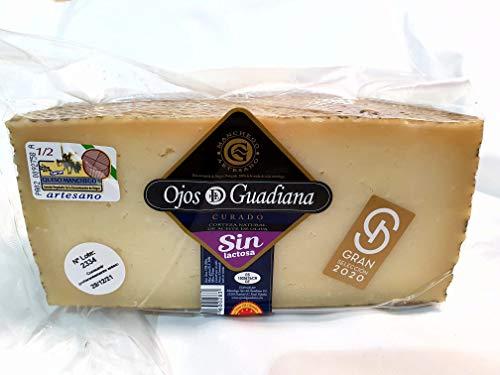 Queso Artesano D.O. Manchego Ojos del Guadiana - SIN LACTOSA CURADO - (Cuña Aprox. 1 kilo)