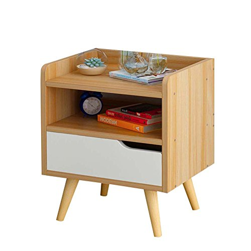 Table de chevet JCOCO avec Panneaux à Base de Bois tiroirs de Rangement, Chambre Casier de Chevet Boîte de Rangement (Couleur : #1, Taille : 33 * 28 * 42cm-A)