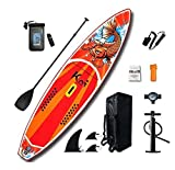 Ausilio Tabla de surf de remo hinchable Koi, 350 x 84 x 15 cm, con accesorios, para principiantes y avanzados