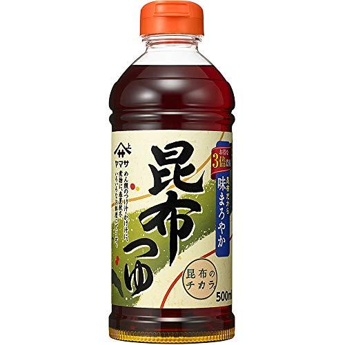 ヤマサ醤油 昆布つゆ 昆布だから味まろやか 3倍濃縮 ペット500ml