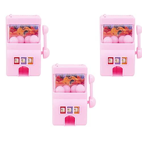 STOBOK 3 Piezas Mini Máquina Tragaperras Juguete Divertido Mini Lucky Slot Machine Bank con Carrete Giratorio para Regalo de Cumpleaños Creativo ( Estilo Aleatorio )