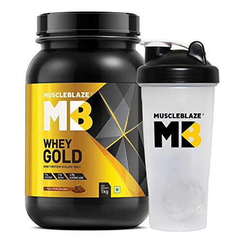 Muscleblaze Whey Gold 100% Whey Isolate Protein Supplement Powder, 1...