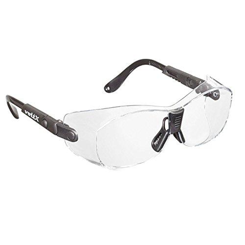 voltX 'Retro Compact OVERGLASSES' – Pequeño/Mediano tamaño, Seguridad Industrial Overspecs-CE EN166ft Certificado, (Lente Transparente) - antifog, rasguño Resistente, protección UV