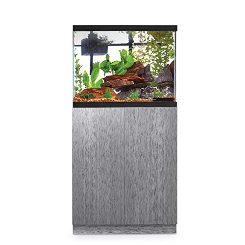 Imagitarium Brushed Steel Look Fish Tank Stand, Up to 29 Gal.