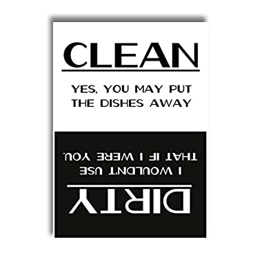 Clean Dirty Dishwasher Magnet Sign