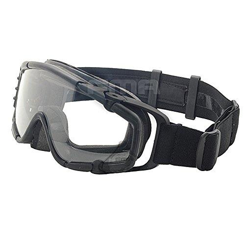 ATAIRSOFT Fan Version Kühler Gläser SI-Ballistic Schutzbrille für Radfahren Fahren Tactical Paintball Softair Ski Snowboard 3 Farben (schwarz, DE, Pink) schwarz